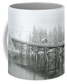 Winter Morning In The Pier Coffee Mug
