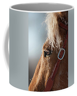 Winter Mustang Eye Coffee Mug