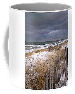 Winter On Cape Cod Sandy Neck Beach Coffee Mug