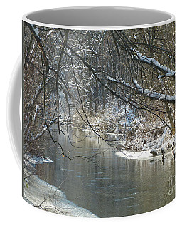 Winter On The Stream Coffee Mug