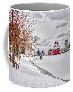 Winter Owen Sound Harbour Coffee Mug