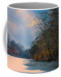 Coffee Mug featuring the photograph Winter Pond by John Rivera