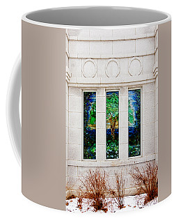 Winter Quarters Temple Tree Of Life Stained Glass Window Details Coffee Mug