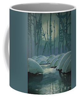 Coffee Mug featuring the painting Winter Quiet by Jacqueline Athmann