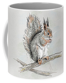 Winter Red Squirrel Coffee Mug