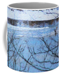Winter River Coffee Mug by Kathy Bassett