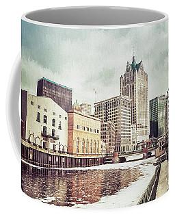 Winter Riverwalk Stroll Coffee Mug