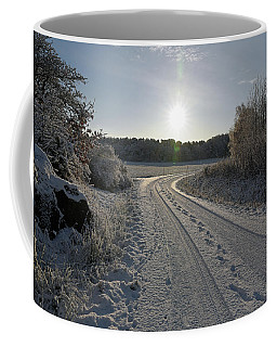 Winter Road Coffee Mug