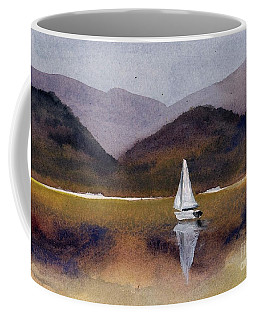Winter Sailing At Our Island Coffee Mug by Randy Sprout