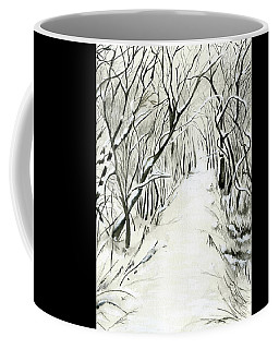 Coffee Mug featuring the painting Winter Scene by Nadine Dennis