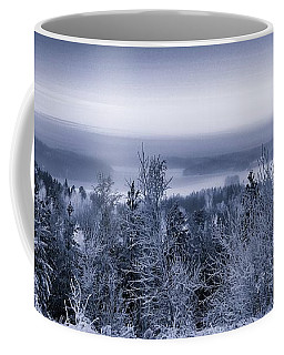 Winter Scenery Of The Lake Hiidenvesi Bw Coffee Mug