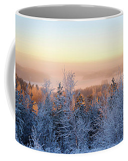 Winter Scenery Of The Lake Hiidenvesi Coffee Mug