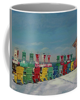 Coffee Mug featuring the painting Winter Sentries by Lynne Reichhart