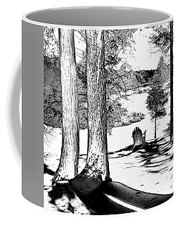 Coffee Mug featuring the photograph Winter Shadows by David Patterson