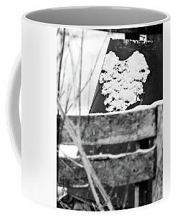 Winter Snow Heart Coffee Mug