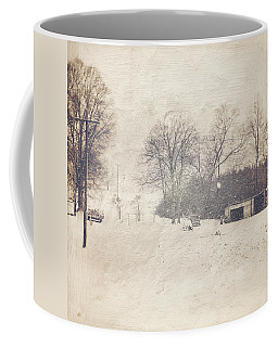 Winter Snow Storm At The Farm Coffee Mug