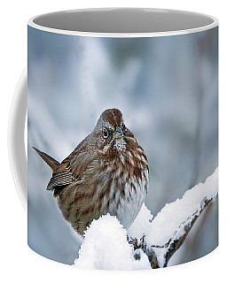 Winter Song Sparrow - 365-301 Coffee Mug by Inge Riis McDonald
