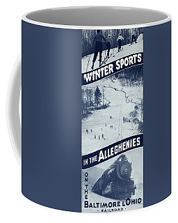 Winter Sports In The Alleghenies Coffee Mug