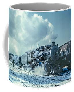 Winter Steam Train Coffee Mug