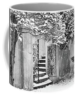 Winter Steps At The Vanderbilt In Centerport, Ny Coffee Mug