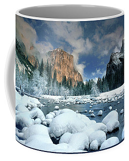 Coffee Mug featuring the photograph Winter Storm In Yosemite National Park by Dave Welling