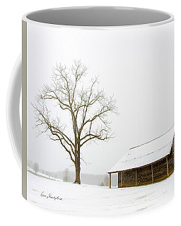 Coffee Mug featuring the photograph Winter Storm On The Farm by George Randy Bass
