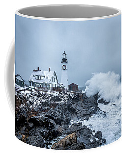 Winter Storm, Portland Headlight Coffee Mug