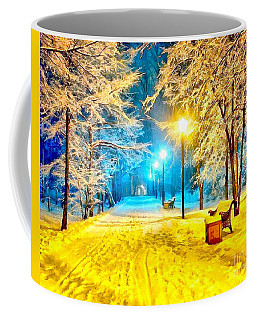 Coffee Mug featuring the painting Winter Street by Catherine Lott