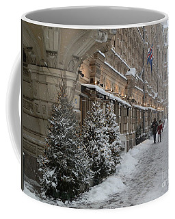 Winter Stroll In Helsinki Coffee Mug