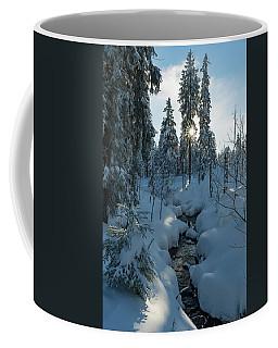 winter sun in Upper Harz Coffee Mug by Andreas Levi