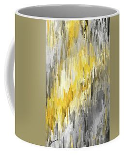 Winter Sun - Yellow And Gray Contemporary Art Coffee Mug