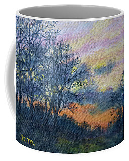 Winter Sundown Sketch Coffee Mug