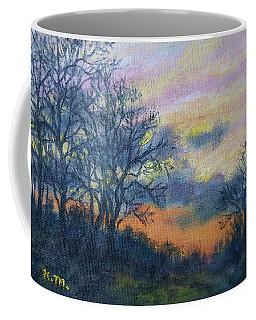 Winter Sundown Sketch Coffee Mug by Kathleen McDermott