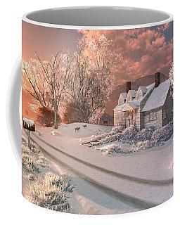 Coffee Mug featuring the digital art Winter Sunrise by Mary Almond