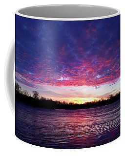 Winter Sunrise On The Wisconsin River Coffee Mug by Brook Burling