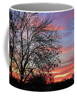 Coffee Mug featuring the photograph Winter Sunrise by Yumi Johnson