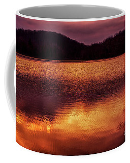 Coffee Mug featuring the photograph Winter Sunset Afterglow Reflection by Thomas R Fletcher