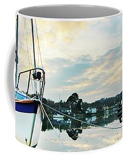 Winter Sunset At Mylor Bridge Coffee Mug
