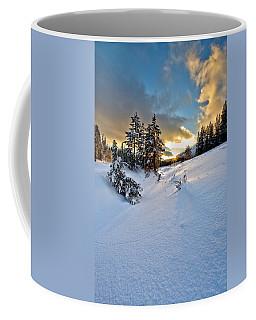 Winter Sunset Coffee Mug by David Andersen