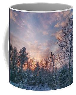 Winter Sunset In New England Coffee Mug