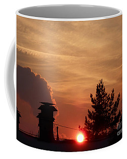 Winter Sunset In The City Coffee Mug