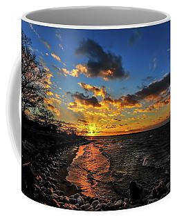 Winter Sunset On A Chesapeake Bay Beach Coffee Mug