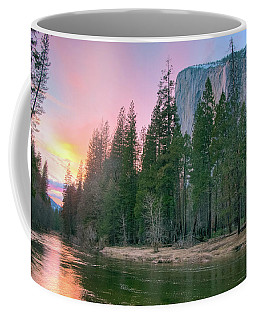 Winter Sunset On Horsetail Falls Coffee Mug