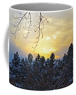 Winter Sunset On The Tree Farm #1 Coffee Mug