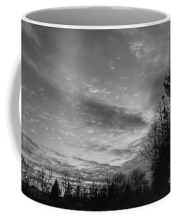 Winter Sunset On Woodland Lake Coffee Mug