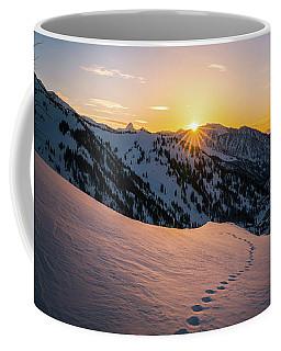 Winter Sunset Over Little Cottonwood Canyon Coffee Mug