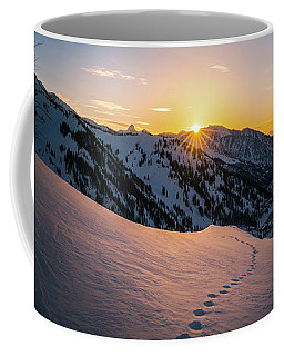 Winter Sunset Over Little Cottonwood Canyon Coffee Mug