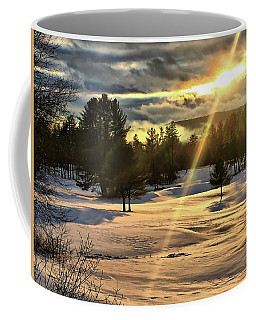 Winter Sunset Rays  Coffee Mug by Betty Pauwels