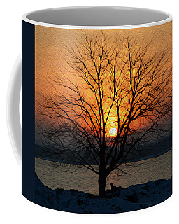 Coffee Mug featuring the photograph Winter Tree Sunrise by SimplyCMB