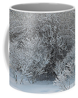 Coffee Mug featuring the photograph Winter Trees by Vladimir Kholostykh